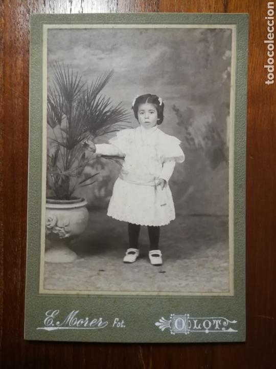 FOTOGRAFIA CABINET E. MORER OLOT (Fotografía Antigua - Albúmina)
