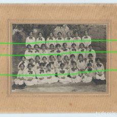 Fotografía antigua: MULA, MURCIA. 34 NIÑAS. COLEGIO FEMENINO. FOTÓGRAFO DESCONOCIDO. MULA, MURCIA. AÑO 1927.. Lote 99477183