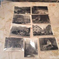 Fotografía antigua: ANTIGUAS 9 FOTOGRAFIA / FOTOGRAFIAS DE LOURDES EN BLANCO Y NEGRO AÑOS 40-50 . Lote 99741163