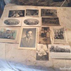 Fotografía antigua: ANTIGUAS 12 FOTOGRAFIA / FOTOGRAFIAS DE NIÑOS, GRUPOS DE GENTE ETC EN BLANCO Y NEGRO AÑOS 40-50 . Lote 99741807