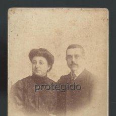 Fotografía antigua: RETRATO. ESPOSOS. FOTÓGRAFO JOSÉ VICENTE OLIVARES. MAYOR, 11. CARTAGENA, MURCIA.. Lote 99990787