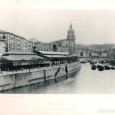 Fotografía antigua: FOTOTIPIA BILBAO. MERCADO E IGLESIA DE SAN ANTON. Nº 369. AÑO 1895. HAUSER Y MENET. Lote 100032551