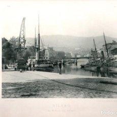 Fotografía antigua: FOTOTIPIA BILBAO. EL MUELLE DEL ARENAL. HAUSER Y MENET. Nº 181. AÑO 1893. Lote 100033795