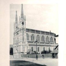 Fotografía antigua: FOTOTIPIA BILBAO. IGLESIA DEL SAGRADO CORAZON DE JESUS. HAUSER Y MENET. Nº 373. AÑO 1895. Lote 100041119