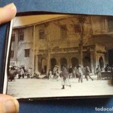 Fotografía antigua: 4 FOTOS PRECIOSAS MURCIA CAPITAL MONUMENTOS, MERCADO, RIO , CARROS ANIMADAS 1908 TURISTA 10X13 CM. Lote 100079631