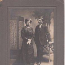 Fotografía antigua: FOTOGRAFÍA. UNA PAREJA ELEGANTE. FERNANDO DEL FRESNO E HIJO, URÍA, 26, OVIEDO. ASTURIAS. Lote 100683287