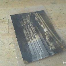 Fotografía antigua: ALBUMINA DEL PORTICO DEL PARAISO CATEDRAL DE ORENSE, 11,5 X 8,5 CM.. Lote 103022783