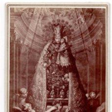 Fotografía antigua: FOTOGRAFÍA VIRGE CON NIÑO. FEDERICO VELA.C.HIERROS DE LA CIUDAD.4 - VALENCIA - 17 X 11 CM. Lote 103132427