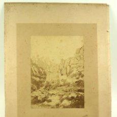 Fotografía antigua: MONTSERRAT, FOTO CANTÓ, BARCELONA. SOPORTE 33X44CM. FOTO 16X23 CM.. Lote 103319983