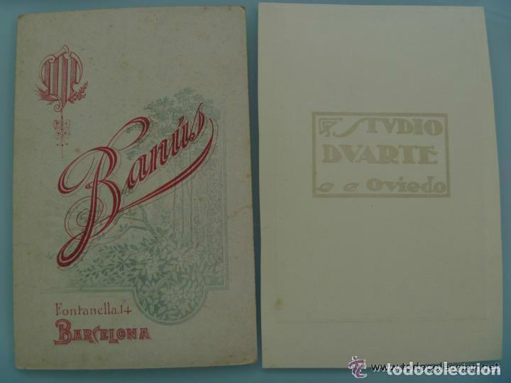 Fotografía antigua: LOTE 2 FOTOS SIGLO XIX Y XX : SEÑORITA DE DUARTE , OVIEDO Y SEÑORA DE BANUS , BARCELONA. 12 x 18 cm - Foto 2 - 104443859