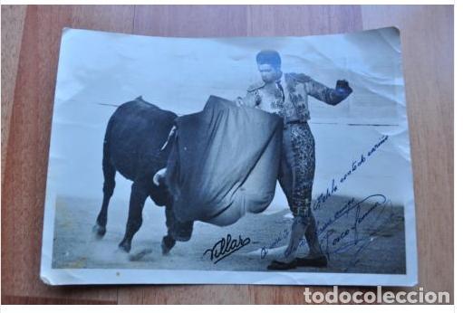 FOTO TAURINA FIRMADA Y DEDICADA AÑOS 60/70 (Fotografía Antigua - Albúmina)