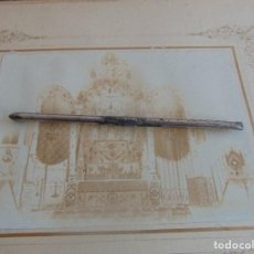 Fotografía antigua: FOTO FOTOGRAFIA ALBUMINA ALTAR CON VIRGEN A IDENTIFICAR SEMANA SANTA PONE UTRERA SEVILLA. Lote 104990035