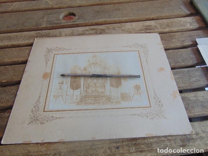 Fotografía antigua: FOTO FOTOGRAFIA ALBUMINA ALTAR CON VIRGEN A IDENTIFICAR SEMANA SANTA PONE UTRERA SEVILLA - Foto 2 - 104990035