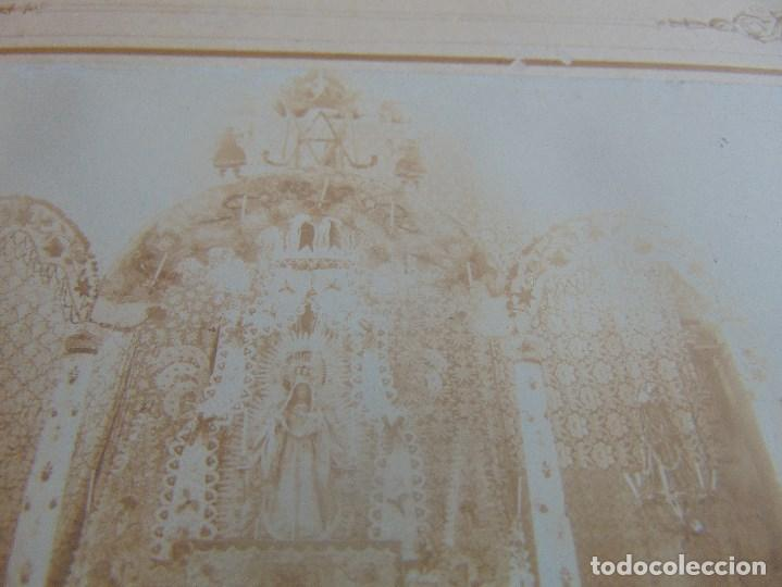 Fotografía antigua: FOTO FOTOGRAFIA ALBUMINA ALTAR CON VIRGEN A IDENTIFICAR SEMANA SANTA PONE UTRERA SEVILLA - Foto 4 - 104990035