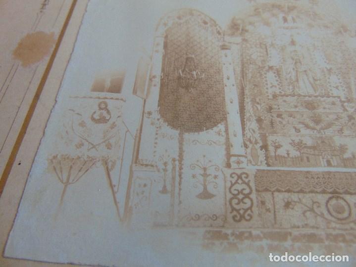 Fotografía antigua: FOTO FOTOGRAFIA ALBUMINA ALTAR CON VIRGEN A IDENTIFICAR SEMANA SANTA PONE UTRERA SEVILLA - Foto 5 - 104990035
