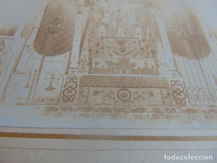 Fotografía antigua: FOTO FOTOGRAFIA ALBUMINA ALTAR CON VIRGEN A IDENTIFICAR SEMANA SANTA PONE UTRERA SEVILLA - Foto 7 - 104990035