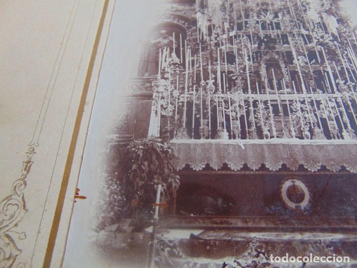 Fotografía antigua: FOTO FOTOGRAFIA ALBUMINA ALTAR CON VIRGEN A IDENTIFICAR SEMANA SANTA PONE UTRERA SEVILLA - Foto 4 - 104990163