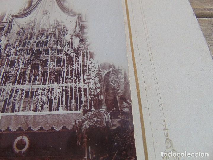 Fotografía antigua: FOTO FOTOGRAFIA ALBUMINA ALTAR CON VIRGEN A IDENTIFICAR SEMANA SANTA PONE UTRERA SEVILLA - Foto 5 - 104990163