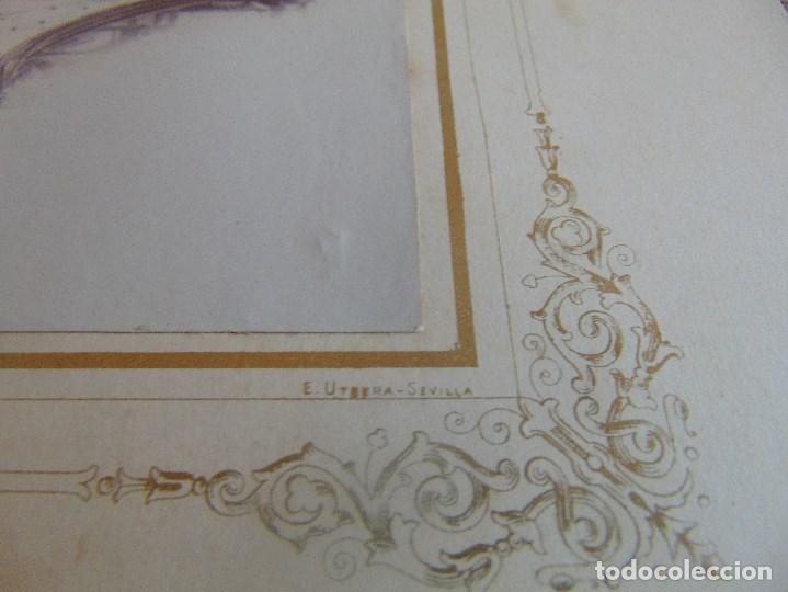 Fotografía antigua: FOTO FOTOGRAFIA ALBUMINA ALTAR CON VIRGEN A IDENTIFICAR SEMANA SANTA PONE UTRERA SEVILLA - Foto 6 - 104990163