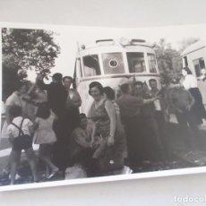 Fotografía antigua: ANTIGUA (S/F)FOTOGRAFÍA DE ESTACIÓN DE TREN-12.5X1.5CM.. Lote 105026243