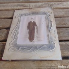 Fotografía antigua: FOTO FOTOGRAFIA ALBUMINA SEÑOR POSANDO EN ESTUDIO FOTO DOMINGUEZ ECIJA SEVILLA. Lote 105327023