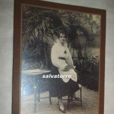 Fotografía antigua - FOTOGRAFIA JOSE MONSO. BARCELONA. MARCO MODERNISTA. EN CARTON.CIRCA 1915 - 105483503