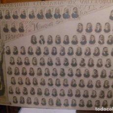 Fotografia antiga: GRAN ORLA DE LA UNIVERSIDAD LITERARIA DE VALLADOLID 1907/1908 FACULTAD DE MEDICINA. Lote 105752559