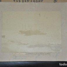 Fotografía antigua: ANTIGUA FOTOGRAFIA ORGINAL DE NAUFRAGIO , ... DE SANTANDER , OCTUBRE 1878. Lote 107100271