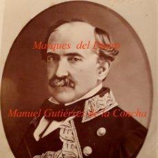 Fotografía antigua: CARLISMO - MARQUES DEL DUERO - 1870'S - MANUEL GUTIÉRREZ DE LA CONCHA E IRIGOYEN -. Lote 107441615