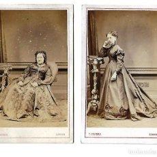 Fotografía antigua: DOS ANTIGUAS FOTOGRAFÍAS DEL FOTÓGRAFO T. COLEMAN,LONDON . Lote 107451875