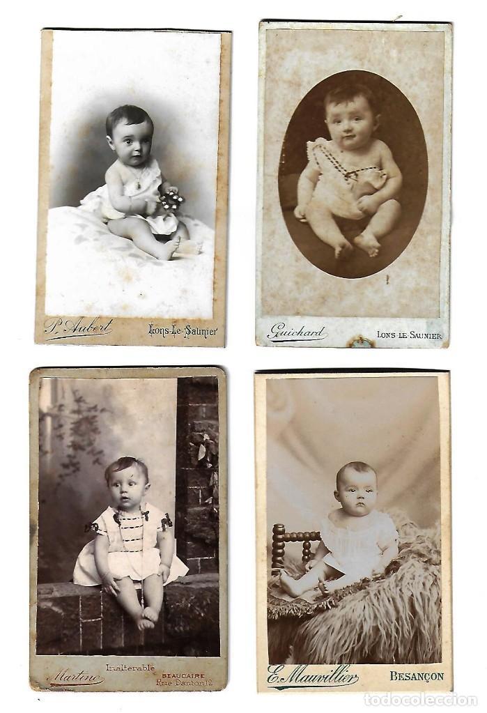Lote De 4 Fotografias Antiguas De Bebes De Dife Comprar Fotografía