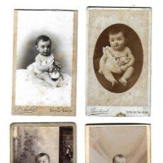 Fotografía antigua: LOTE DE 4 FOTOGRAFIAS ANTIGUAS DE BEBES DE DIFERENTES FOTOGRAFOS. Lote 107561183
