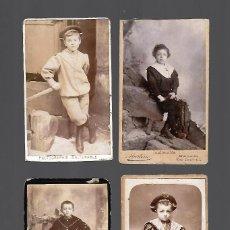 Fotografía antigua: LOTE DE ANTIGUAS FOTOGRAFIAS DE NIÑOS POSANDO. Lote 107561279