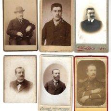 Fotografía antigua: ANTIGUAS FOTOGRAFIAS DE CABALLEROS EN LOTE DE 6. Lote 107586099