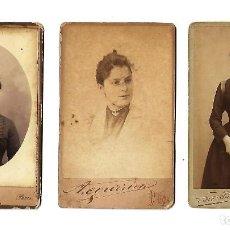 Fotografía antigua: ANTIGUAS FOTOGRAFIAS DE MUJERES DE DIFERENTES FOTOGRAFOS. Lote 107586155