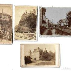 Fotografía antigua: ANTIGUAS FOTOGRAFIAS DE PAISAJES Y MONUMENTOS. LOTE DE 4 . Lote 107586203