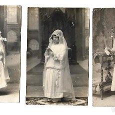 Fotografía antigua: ANTIGUAS TARJETAS POSTALES NIÑAS DE COMUNION . Lote 107586331