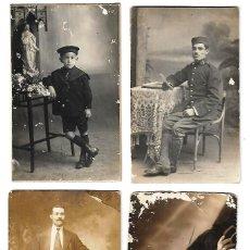 Fotografía antigua: ANTIGUAS TARJETAS POSTALES VARIADAS LOTE DE 4. Lote 107586359