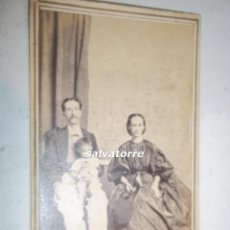 Fotografía antigua: FOTOGRAFIA ANTIGUA MESTRE.HABANA CUBA.FAMILIA EMIGRANTES CANARIOS.1866. Lote 107684555