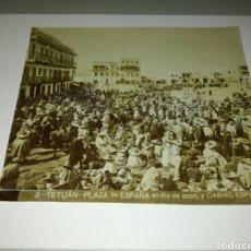 Fotografía antigua: TETUAN.PLAZA DE ESPAÑA.. Lote 107988052