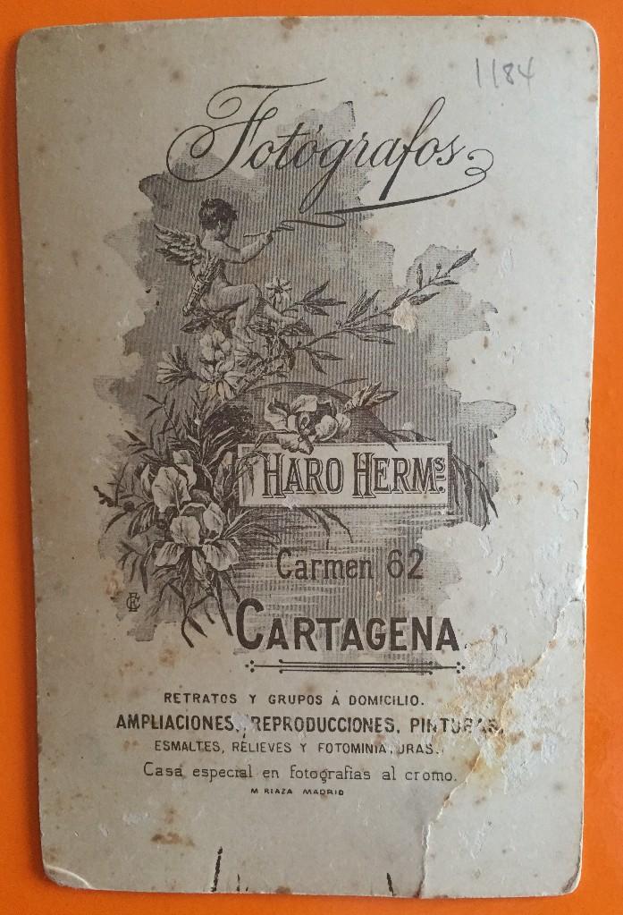 Fotografía antigua: CARTAGENA- FOTOGRAFIA HARO HERMANOS - Foto 2 - 107956211