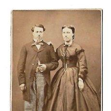 Fotografía antigua: ANTIGUA FOTOGRAFIA DE PAREJA DEL FOTOGRAFO LEGROS. Lote 108792891