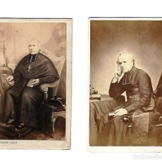 Fotografía antigua: ANTIGUAS FOTOGRAFIAS DE DOS MINISTROS DEL CLERO. Lote 108793015