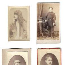 Fotografía antigua: ANTIGUAS FOTOGRAFIAS DE JOVENCITOS. LOTE DE 4 UNIDADES. Lote 108793067