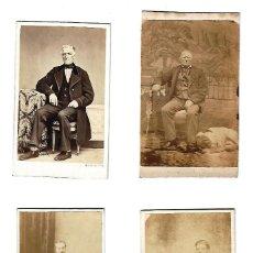 Fotografía antigua: ANTIGUO LOTE DE FOTOGRAFIAS DE CABALLEROS SENTADOS. 4 UNIDADES. Lote 108793147