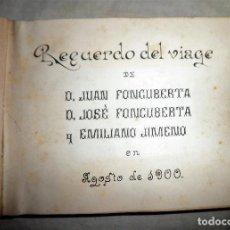 Fotografía antigua: ANTIGUO ALBUM FOTOGRAFICO VIAJE POR EUROPA EMPRESARIOS CATALANES AÑO 1900 - MUY RARO.. Lote 108908935