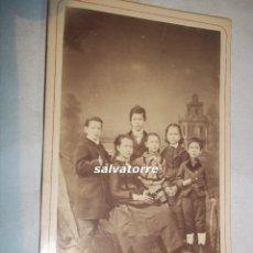 Fotografía antigua: FOTOGRAFIA ANTIGUA.NAPOLEON.BARCELONA.TARJETA VISITE.FOTOGRAFIA REAL.GRUPO FAMILIA.. Lote 109120115
