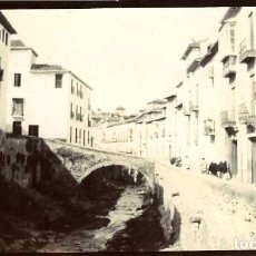 Fotografía antigua: GRANADA. PUENTE SOBRE EL RÍO DARRO. DECADA DE 1890. TAMAÑO 6,6X11,2 CM.. Lote 109147463