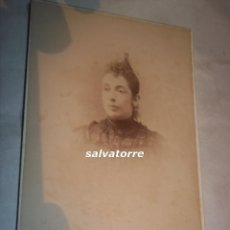 Fotografía antigua: FOTOGRAFIA ANTIGUA.JUAN RODRIGUEZ.SEVILLA.RIOJA 11.AÑO 1895.DEDICADA. Lote 109300139