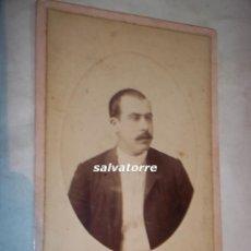 Fotografía antigua: FOTOGRAFIA ANTIGUA.ANTONIO ESPLUGAS.BARCELONA.PLAZA DEL TEATRO 7. 16´5 CM X 11 CM. Lote 109301579